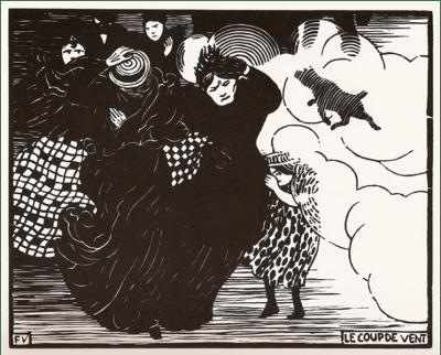 Le /coup de Vent, 1894. Xylographie.