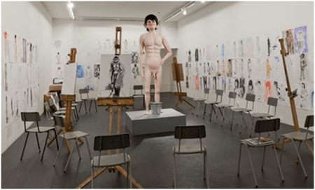 David Shrigley's exhibit at the 2013 Turner prize show in Derry.  (http://www.theguardian.com/artanddesign/2013/oct/22/turner-prize-2013-exhibition)