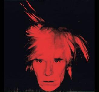 Andy Warhol, Autoritratto, 1986. Acrilico e serigrafia su tela Tate Museum Londra.