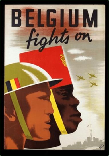 Belgium Fights On (Belgien kämpft weiter), 1939-1945. Poster, Vereinigte Staaten von Amerika.