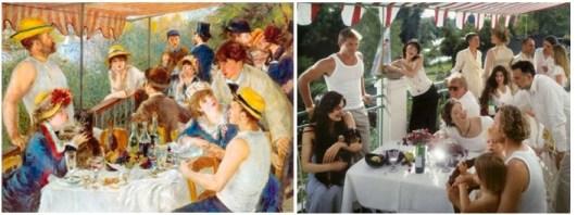 Pierre auguste Renoir, 1881, Le Déjeuner des canotiers, 128 cm × 173 cm, The Phillips Collection, Washington. Neil Folberg, 2003, Le déjeuner des canotiers (d'après Renoir).