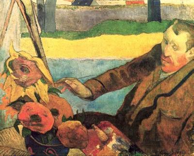 Paul Gauguin: Porträt des Vincent van Gogh, Sonnenblumen malend, 1888. Öl auf Leinwand, 73 x 91 cm. Van Gogh Museum, Amsterdam.
