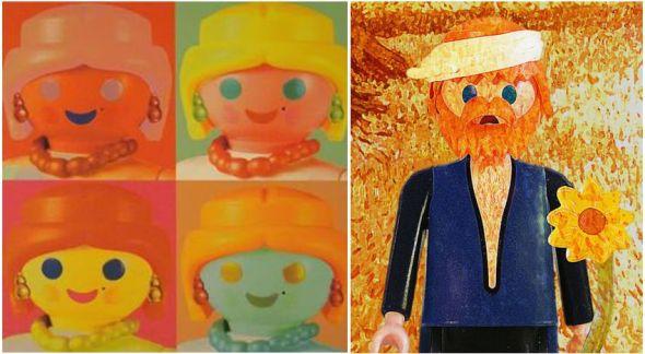 Richard Unglick Andy Wharol Van Gogh Playmobil ®