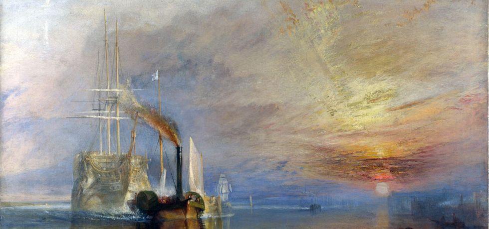 J.M.W. Turner, Le Dernier Voyage du Téméraire, 1838. Huile sur toile. National Gallery, Londres.