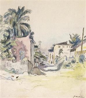 Cuba, 1915 Aquarelle sur papier, 23.8 x 20.3 cm Collection particulière
