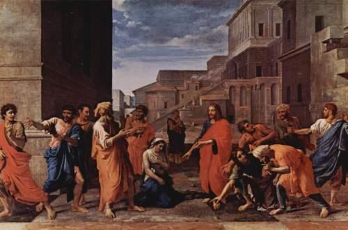 Nicolas Poussin, Le Christ et la femme adultère, 1653. Huile sur toile, 121 x 195 cm. Musée du Louvre, Paris.