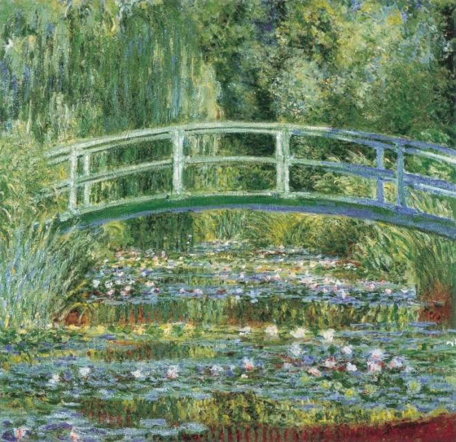 Claude Monet, Der Seerosenteich, 1899. Öl auf Leinwand, 89 x 93 cm. Puschkin-Museum, Moskau.