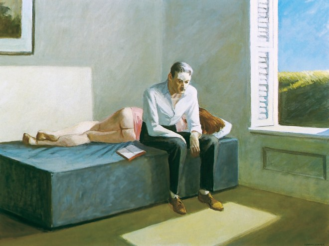 Exkursion in die Philosophie, 1959. Öl auf Leinwand, 76,2 x 101,6 cm. Privatsammlung.
