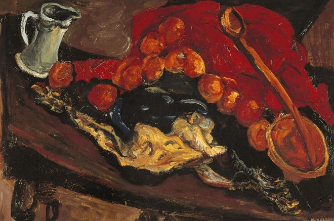 Chaïm Soutine, Nature morte à la dinde, 1926. Huile sur toile, 54 x 81cm. Musée national d'Art moderne, Centre Georges-Pompidou, Paris.