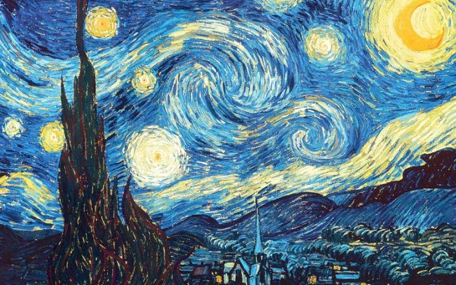 Vincent Van Gogh, The Starry Night, 1889. Oil on canvas, 73.7 x 92.1 cm. Museum of Modern Art, New York.