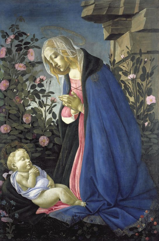 The Virgin adoring the sleeping Christ child ('The Wemyss Madonna'), c1485.