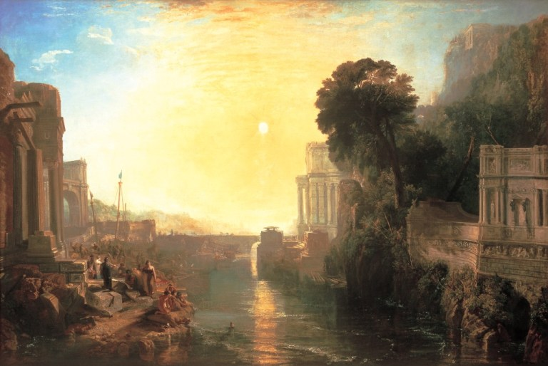 Dido Building Carthage; or The Rise of the Carthaginian Empire, exhibited 1815.  Oil on canvas, 155.5 x 230 cm. The National Gallery, London.