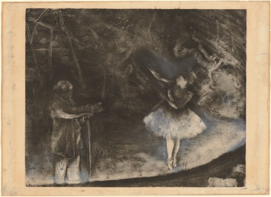 Edgar Degas, Der Ballettmeister, um 1874. Monotypie, mit weißer Kreide oder Lavierung gehöht, 62 x 85 cm. National Gallery of Art, Washington, D. C.