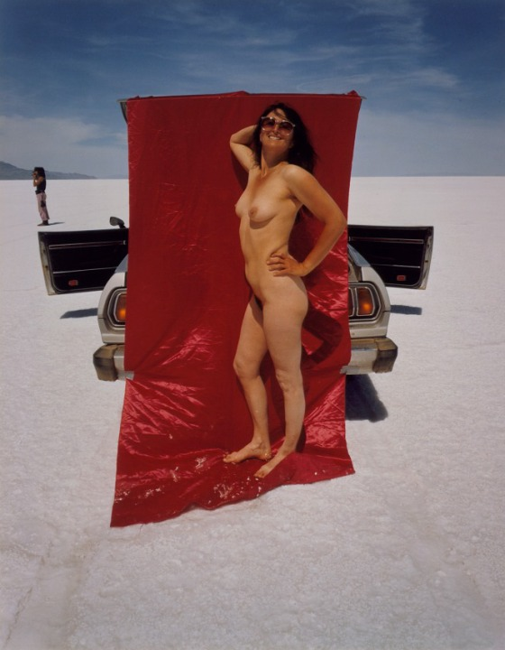 Judy Dater, Self-Portrait, Salt Flats, 1981. Dye coupler print, 45.88 x 35.88 cm. Los Angeles County Museum of Art, Los Angeles.