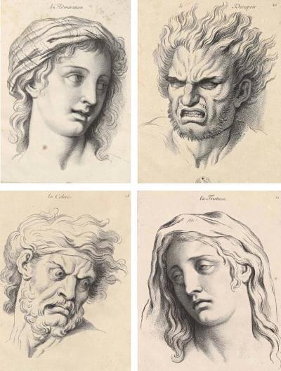 Expressions des passions de l'âme, vers 1670. Musée du Louvre.