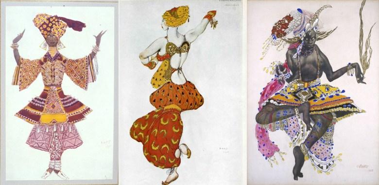 Leon Bakst. Costume design for Le Dieu bleu. 1912