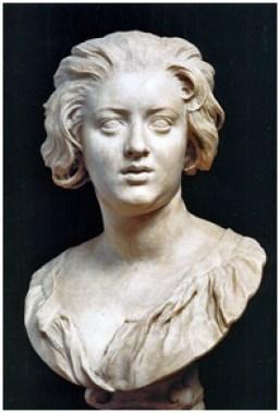 贝尼尼,《康斯坦莎半身像》( Bust of Constanza Buonarelli). 约1635年。大理石, 72 cm. 巴杰罗美术馆,意大利佛罗伦萨。