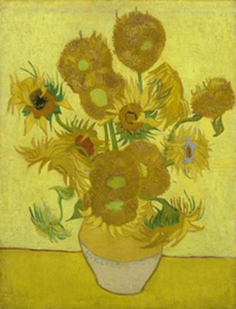 向日葵,1889年,帆布油画,95x73 cm.梵高博物馆,阿姆斯特丹。