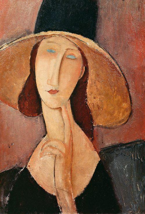 portrait-of-jeanne-hebuterne-in-a-large-hat-amedeo-modigliani