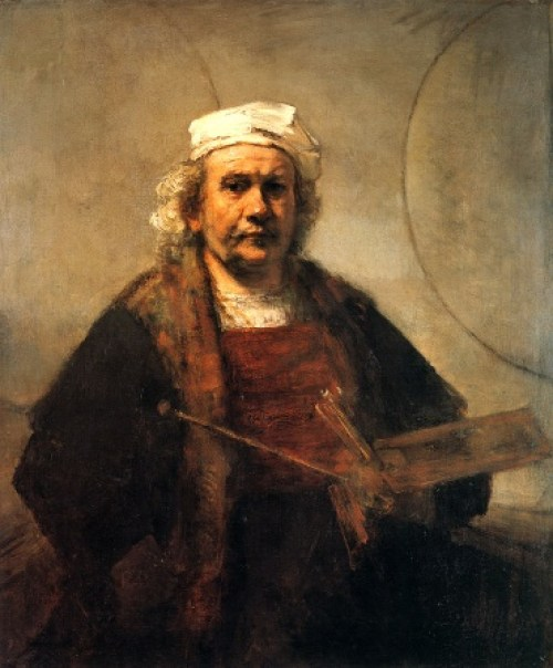 Self-portrait with 2 circles
