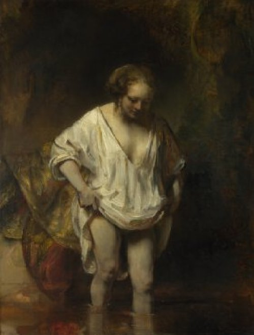 A Woman Bathing