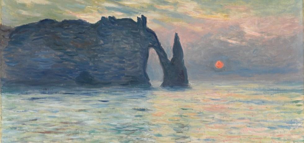 claude-monet-Etretat-Sunset