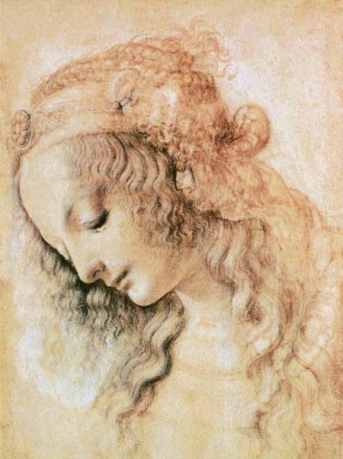 Léonard-de-Vinci-Étude-du-visage-d'une-femme