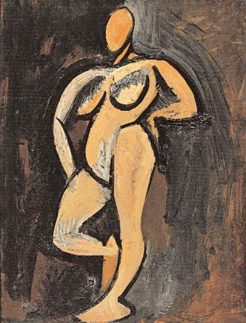 Pablo-Picasso-Stehender-Akt-1908.