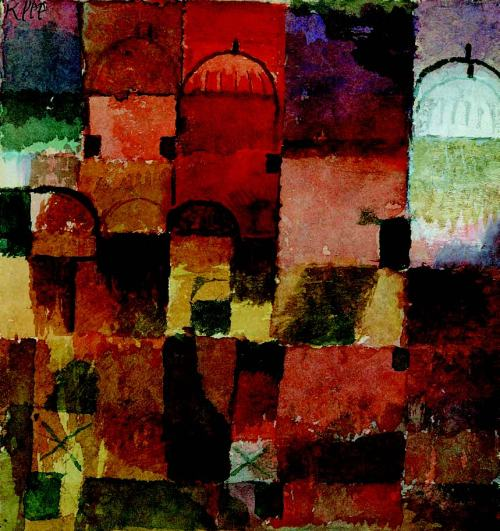 paul-klee-Dômes-rouges-et-blancs