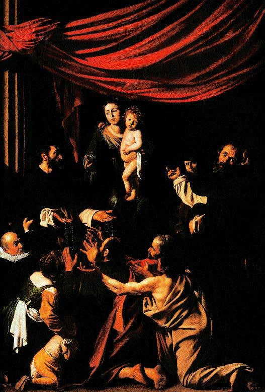 Caravaggio-Rosenkranzmadonna-1607
