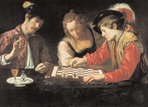 Caravaggio-École-caravagesque-Les-Joueurs