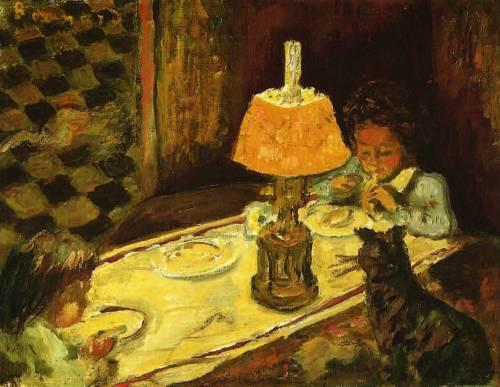 Pierre-Bonnard-paintings-the-children-lunch