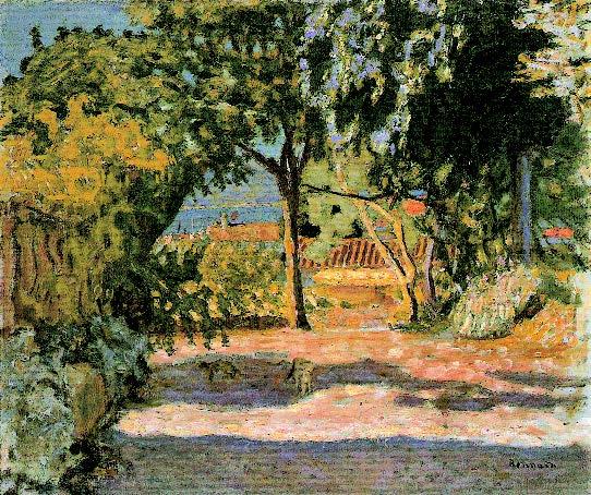 Pierre-Bonnard-Vue-de-Saint-Tropez-ou-L'Allée-1909