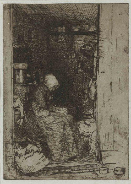 Whistler-La-Vieille-aux-Loques-part-of-The-French-Set-1858-1860