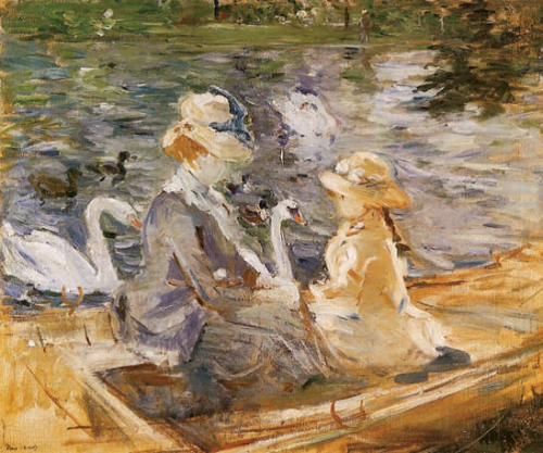 Berthe-Morisot-On-the-Lake-of-the-Bois-de-Boulogne
