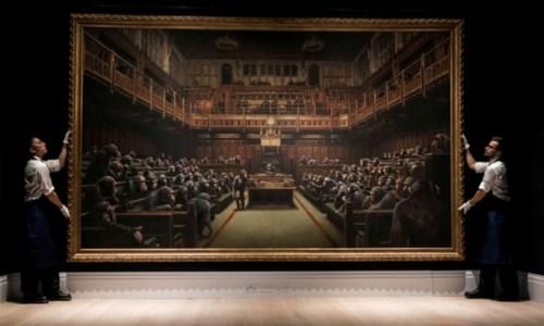 """Devolved Parliament"" 2009 Banksy"