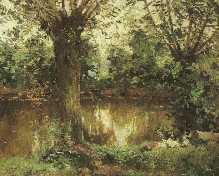Gustave Caillebotte - Landscape, Banks of the Yerres