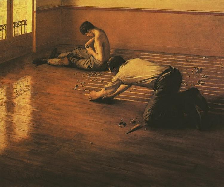 Gustave Caillebotte - Les Raboteurs de parquet (Die Parkettschleifer)
