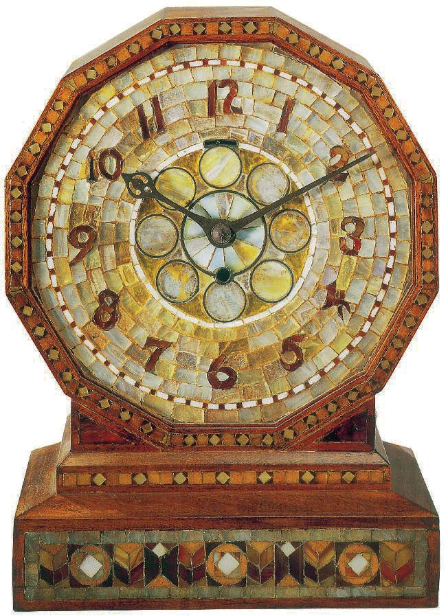 Mosaikuhr, Favrile-Glas, Tiffany, Charles De Kay