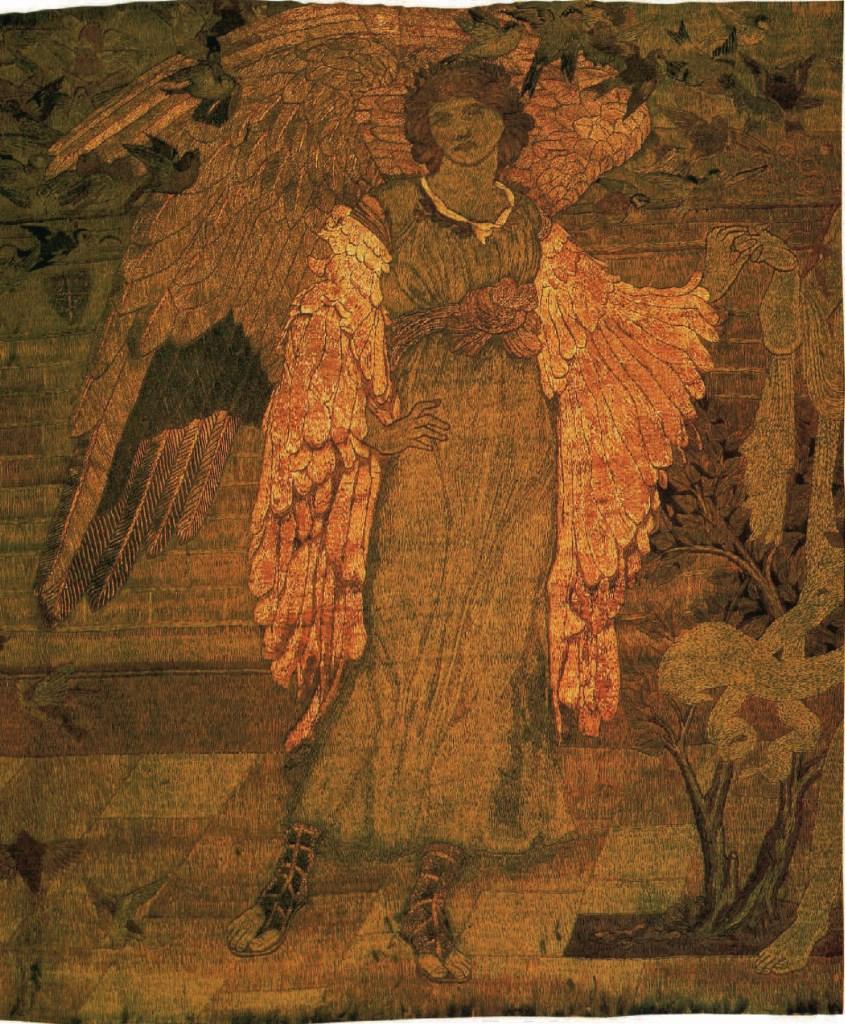 Der Pilger außerhalb des Gartens der Liebe, um 1893-1898., William Morris, Arthur Clutton-Brock