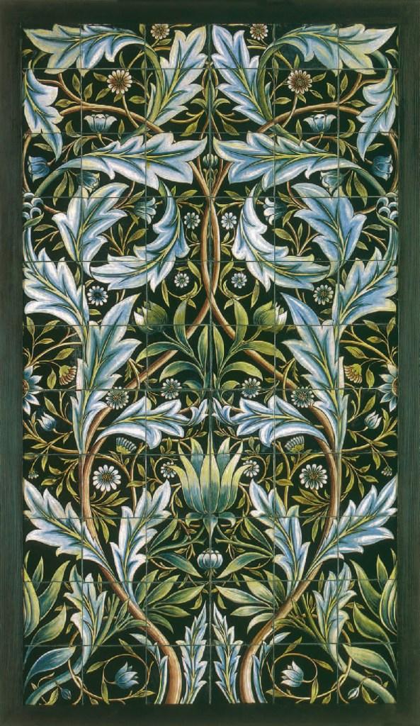 Gemälde auf Keramikfliese, 1876, William Morris, Arthur Clutton-Brock