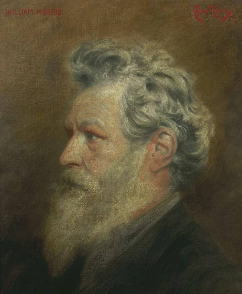 Cosmo Rowe, Portrait of William Morris, William Morris, Arthur Clutton-Brock