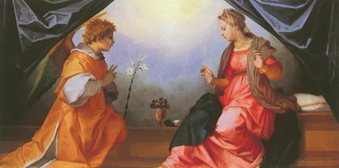 Andrea del Sarto, Die Verkündigung, 1528, Leonardo Da Vinci - Künstler, Maler der Renaissance, Eugène Müntz