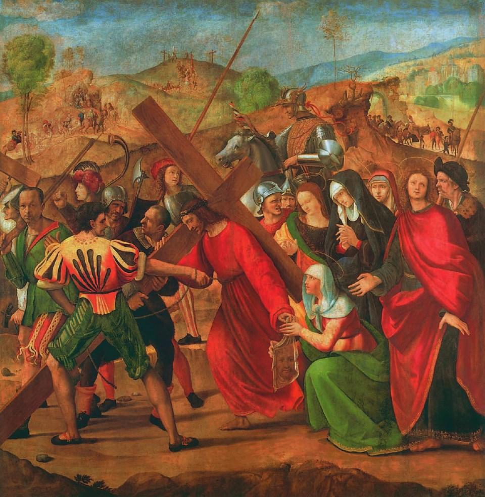 Ridolfo Ghirlandaio, Prozession nach Golgatha, um 1505, Christus in der Kunst, Ernest Renan
