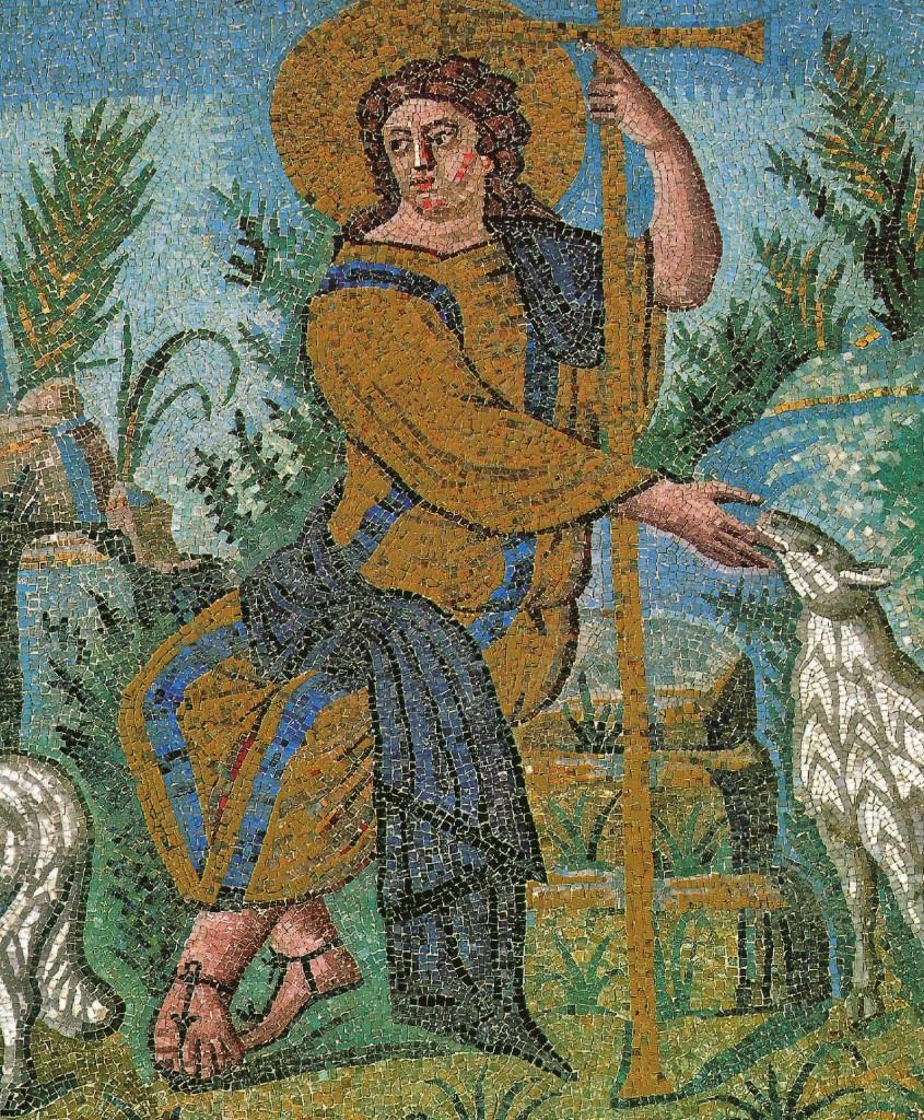 Christ Bon Pasteur (détail), vers 450, Le Christ dans l'art, Ernest Renan