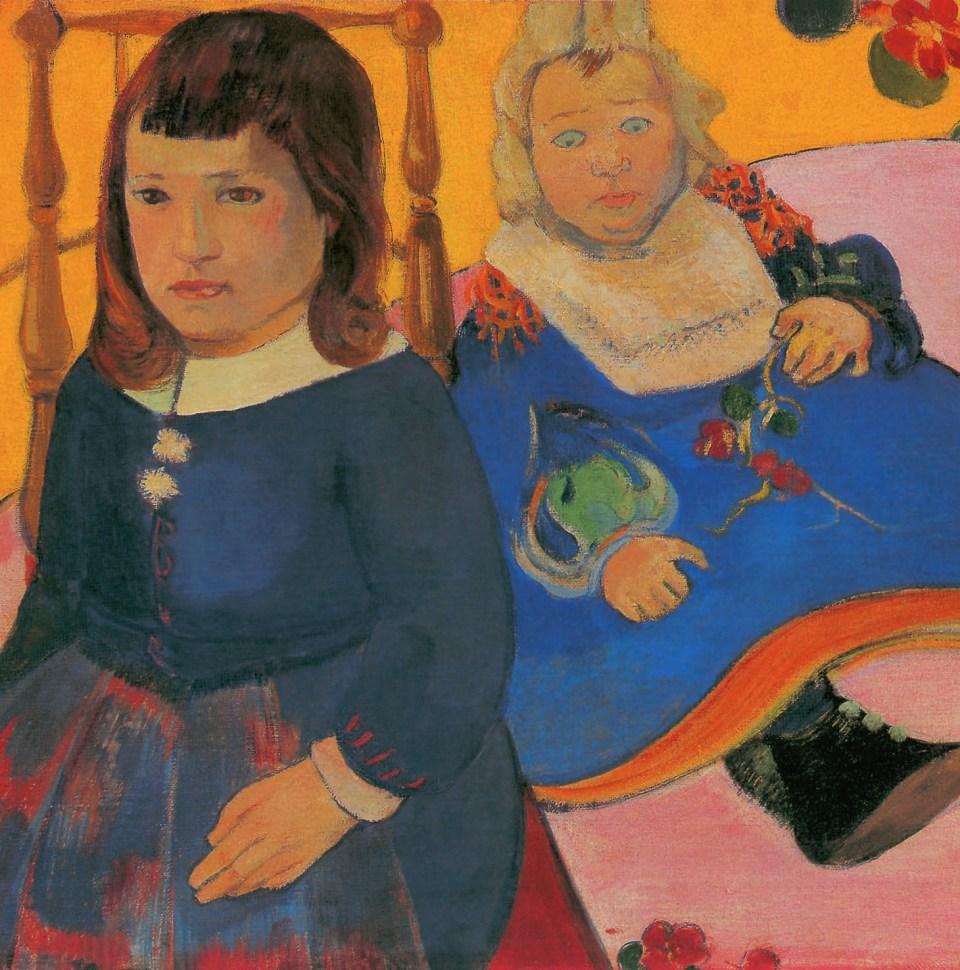 Double Portrait of Children by Paul Gauguin, Little Girls, Klaus H. Carl