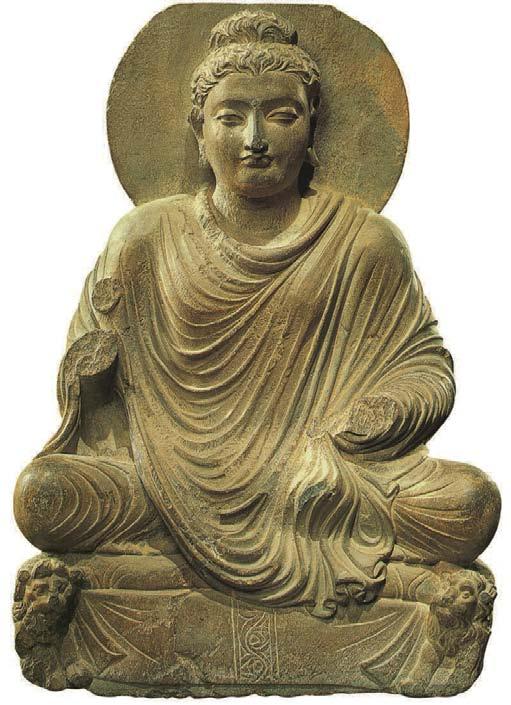 Bouddha assis sur un trône aux lions, 1000 Bouddhas de Génie, T.W. Rhys Davids Ph.D. LLD., Victoria Charles
