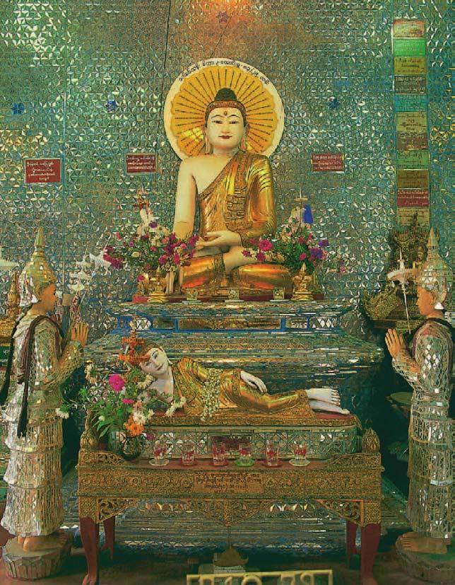 Ein ruhender und ein sitzender Buddha, 1000 Buddhas, T.W. Rhys Davids Ph.D. LLD., Victoria Charles