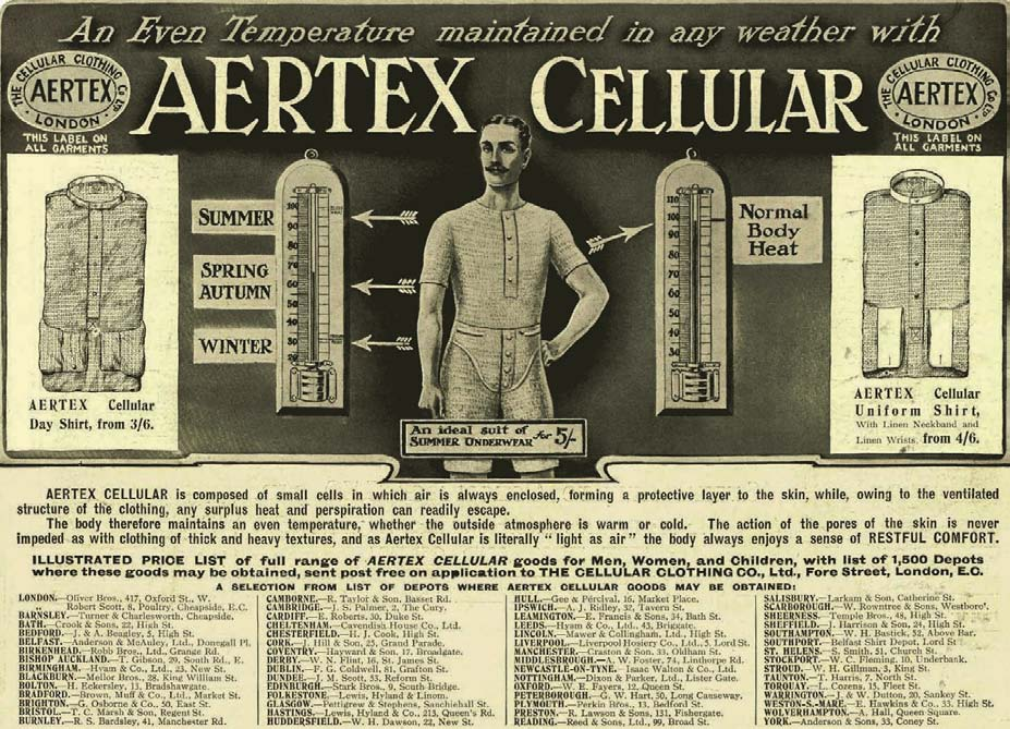 An Even Temperature Maintained in any Weather with Aertex Cellular, L'Histoire des Sous-Vêtements Masculins, Shaun Cole