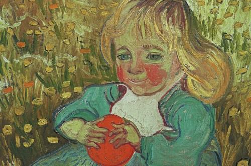 Kind mit einer Orange von Vincent van Gogh, Kleine Maedchen, Klaus H. Carl